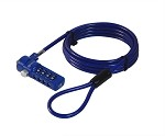 Sendt Blue Notebook / Laptop Combination Lock Security Cable